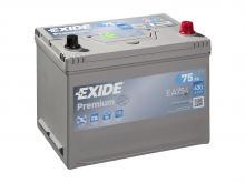 EXIDE 75 А/ч Обратный Азия EA754